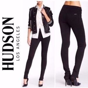 Hudson High Waist Barbara Black Pants A006